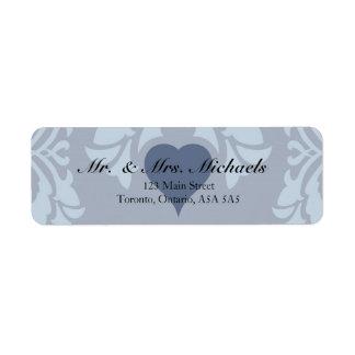"""Elegant Blue """"Return Address Labels"""" Return Address Label"""