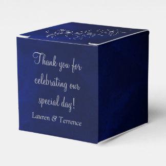 Elegant Blue Silver Wedding Favor Box