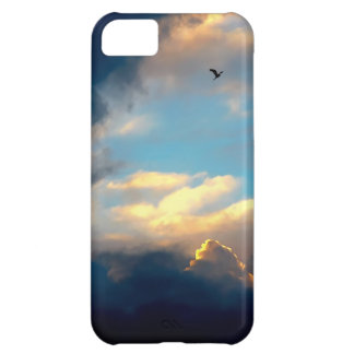 Elegant Blue Sky Creamy Clouds Cover For iPhone 5C