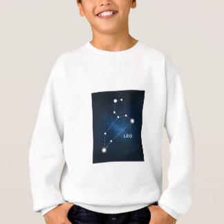 ELEGANT BLUE STARRY WATERCOLOR UNIVERSE - LEO SWEATSHIRT