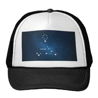 ELEGANT BLUE STARRY WATERCOLOR UNIVERSE - PISCES TRUCKER HAT