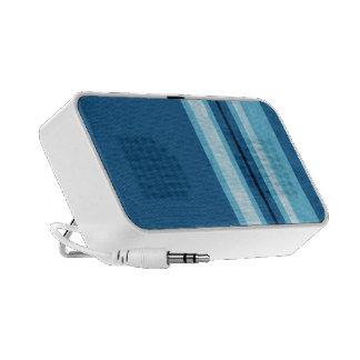 Elegant blue stripes travel speakers