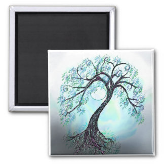 Elegant Blue Tree of life - Save the Date! Magnet