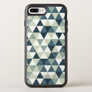 Elegant Blue Triangle Pattern | Phone Case