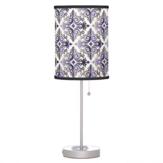 Elegant Blue Vonster Pattern Table Lamp