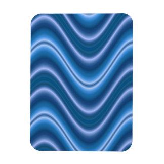 elegant blue wave abstract rectangular photo magnet