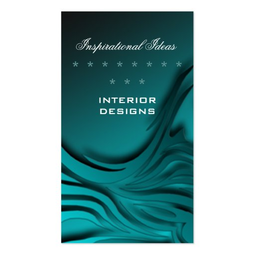 Elegant Blue Zebra Print Business Card