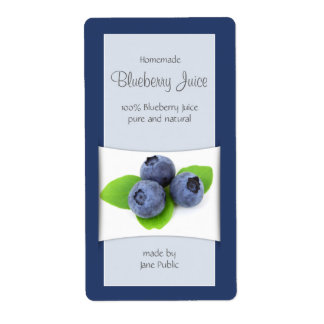 Elegant Blueberry Juice or Jam Shipping Label