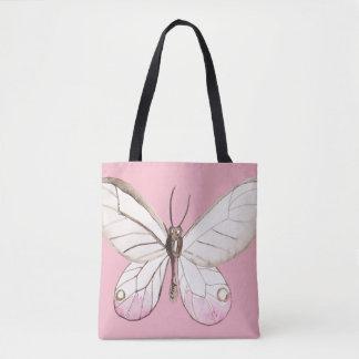 Elegant Blush Butterfly |  Pink Tote Bag