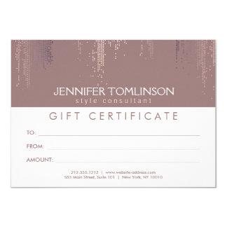 Elegant Blush Confetti Rain Pattern Gift Card