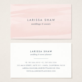 Elegant Blush Pink Watercolor Business Card