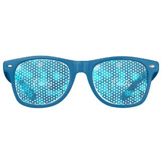 Elegant Bokeh Blue Turquoise Circles Pattern Party Sunglasses