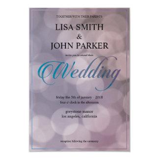 Elegant Bokeh Wedding Invitation