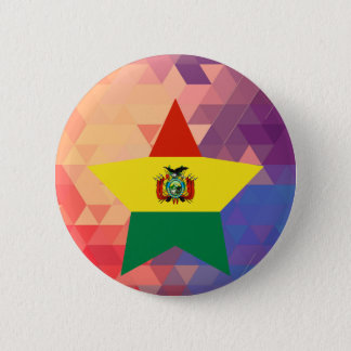 Elegant Bolivia flag heart 2 Inch Round Button