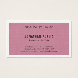 Elegant Bordeaux Plain Modern Luxury Chic Trendy Business Card