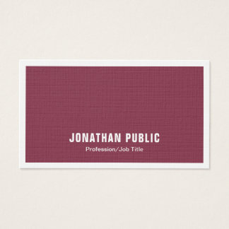Elegant Bordeaux Trendy Plain Modern Luxury Chic Business Card