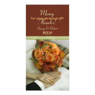 Elegant Bouquet Thank You Customized Photo Card