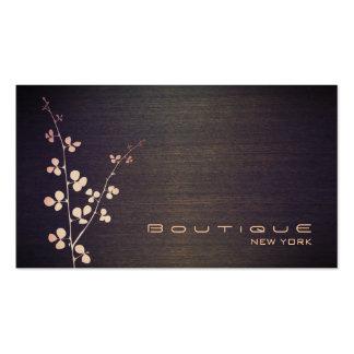 Elegant Boutique Wood Grain Texture Look Business Card Templates