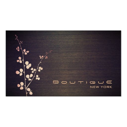 Elegant Boutique Wood Grain Texture Look Business Card Templates