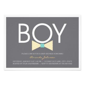 Elegant Bow Tie Boy Baby Shower Invitations Invites
