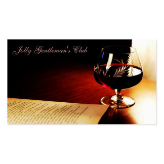 Elegant Brandy And Book business Card