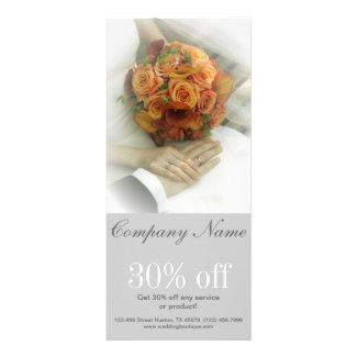 elegant bridal bouquet wedding planner rack card