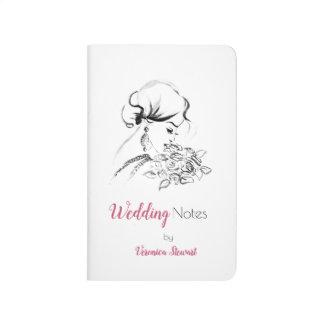 Elegant Bridal Fashion Illustration Journal
