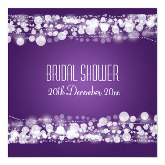 Elegant Bridal Shower  Dotted Purple Card