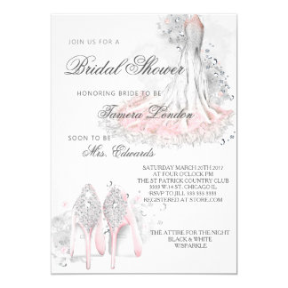 Elegant bridal shower invitation, Sparkle & shine Card
