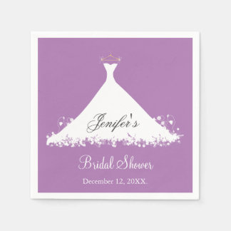 Elegant Bridal Shower  Napkins Paper Napkin