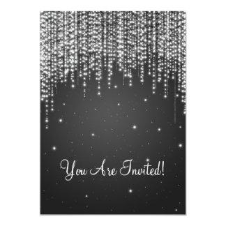 "Elegant Bridal Shower Night Dazzle Black 5"" X 7"" Invitation Card"