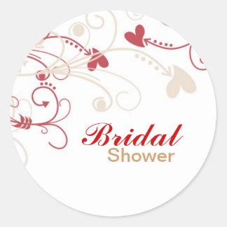 Elegant Bridal Shower Stickers