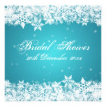 Elegant Bridal Shower Winter Snowflakes Blue