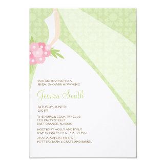 Elegant Bride {green} 5x7 Paper Invitation Card
