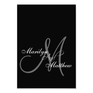 Elegant Bride Groom Monogram RSVP Cards