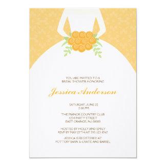 Elegant Bride {orange} 5x7 Paper Invitation Card