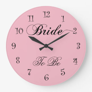Elegant Bride To Be Design Clocks
