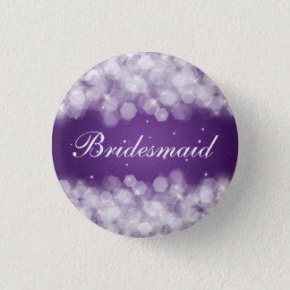Elegant Bridesmaid Favor Party Sparkle Purple 1 Inch Round Button