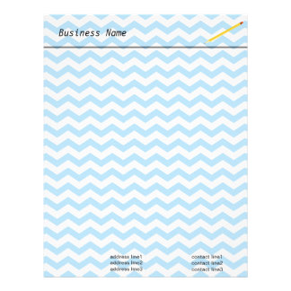 Elegant bright blue chevron zigzag stripes. letterhead