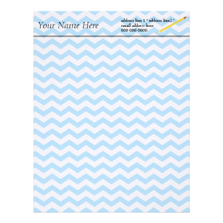 Elegant bright blue chevron zigzag stripes. letterhead design