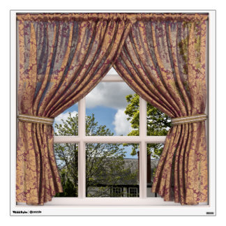 Elegant Brocade Vintage English View Wall Decal