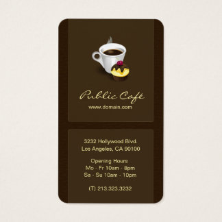 Elegant Brown Chocolate Cafe Business Card