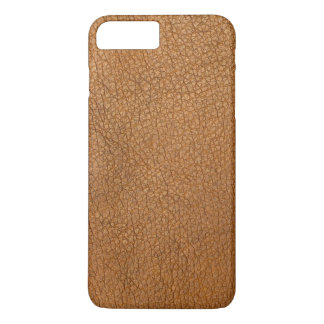 Elegant Brown Leather Style Design iPhone 8 Plus/7 Plus Case