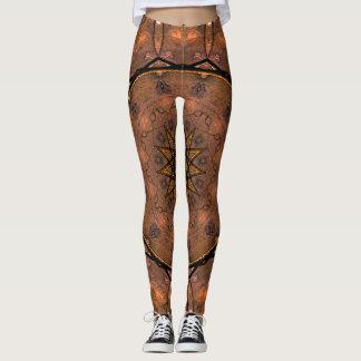 Elegant Brown Leggings