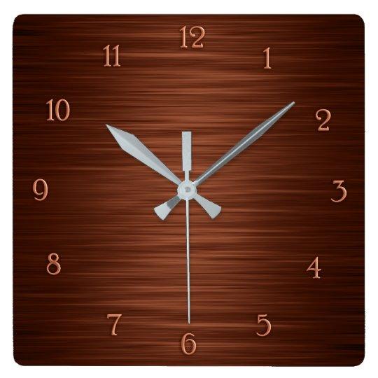 Elegant brown shaded wall clock
