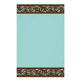 Elegant Brown & Teal Stationary Stationery
