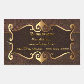 Elegant brown with golden frame for businesses
