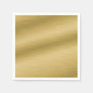 Elegant Brushed Gold Disposable Napkins