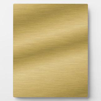 Elegant Brushed Gold Plaque