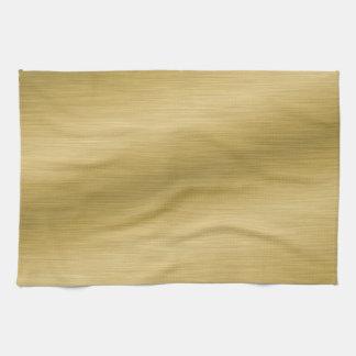 Elegant Brushed Gold Towels